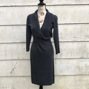 Smoky Gray Sweater Dress.  Connected Apparel brand